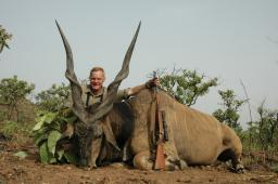 This fantastic giant eland, taken in Cameroon in early March 2008, is probably my very best African trophy.  We were lucky to catch a glimpse of this great bull the first time we hit the herd, so we stayed with them until he offered a shot.