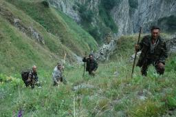 The Caucasus Mountains are steep and treacherous. The local guides in Azerbaijan are very good and the hunting is extremely successful, but it's never easy.