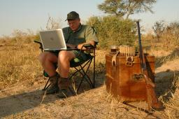 "Craig's ""On the go"" Office in Botswana"